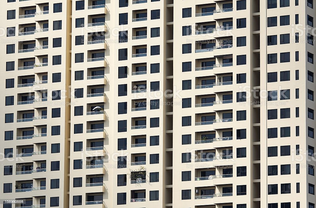 Modern high rise apartment building royalty-free stock photo