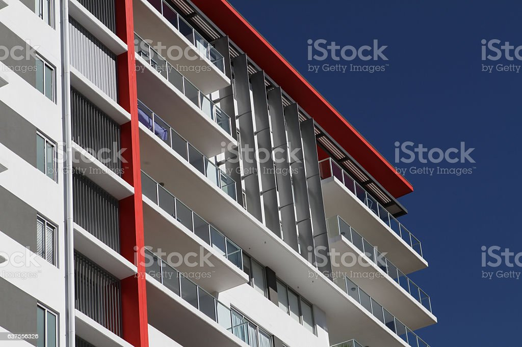 Modern High Rise Residential Building stock photo