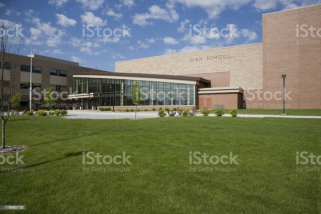 Modern High School stock photo
