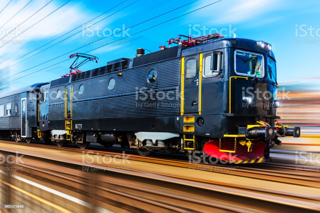 Modern high speed passenger train royalty-free stock photo