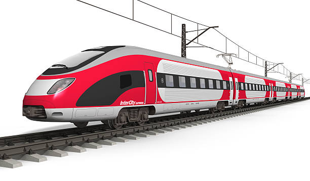 Modern high speed train See also: electric train stock pictures, royalty-free photos & images