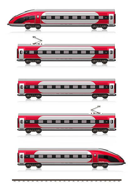 moderne high-speed-train set - hochgeschwindigkeitszug stock-fotos und bilder