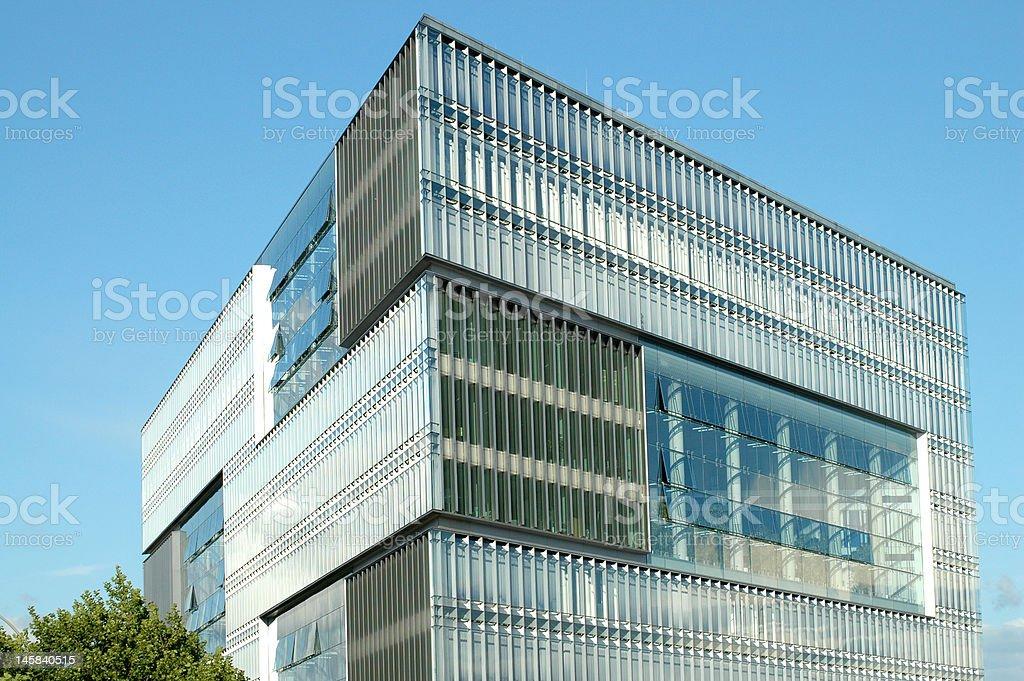 Modern High Tech Cube Building stock photo iStock