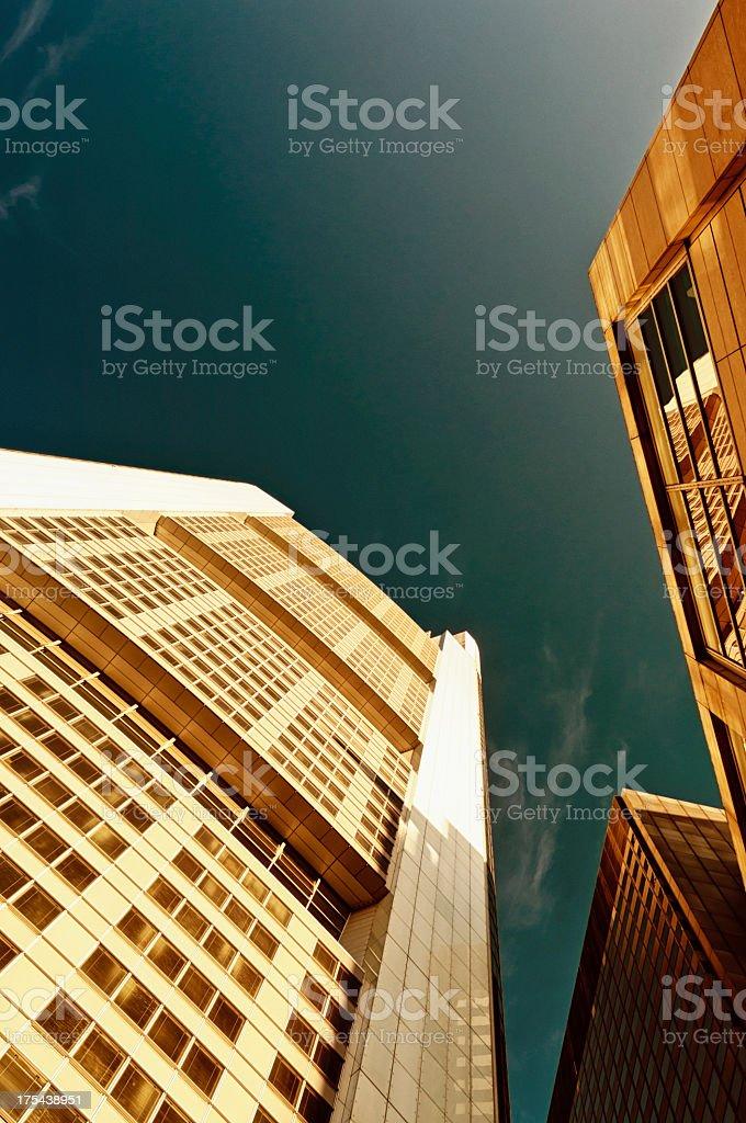 Moderne Wolkenkratzer in Frankfurt am Main – Foto