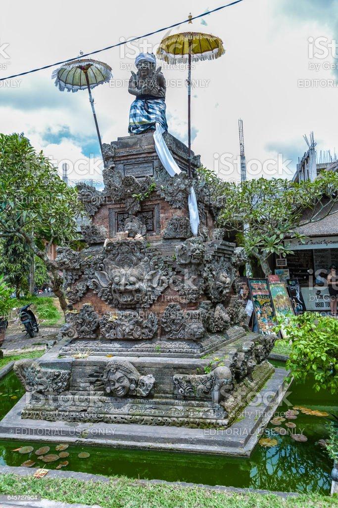 Ubud Indonesia August 29 2008 Modern Hindu Statue Stock