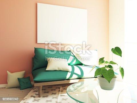 902720222 istock photo Modern hipster interior 3d 923592242