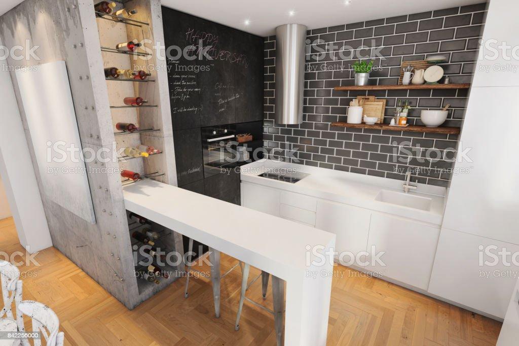 Moderne Hipster Küche Interieur Stockfoto und mehr Bilder von ...