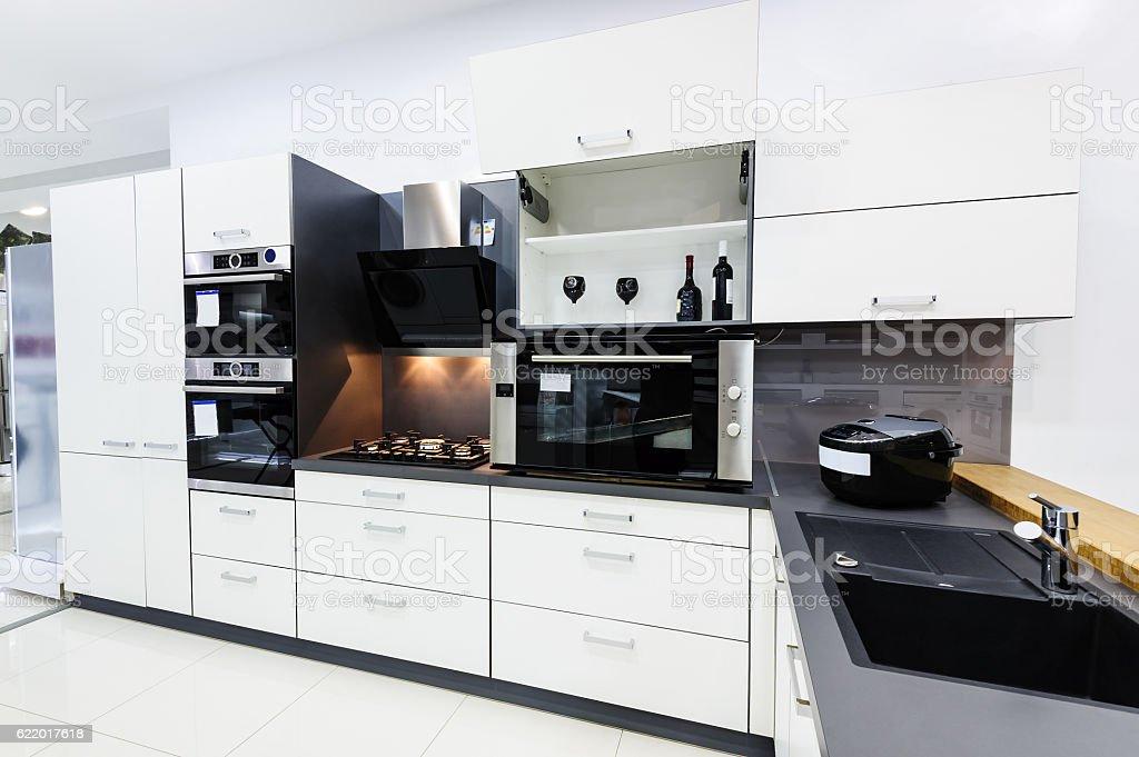 Modern Hitek Kitchen Clean Interior Design Stock Photo Download Image Now Istock