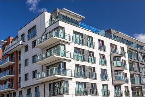 Modern Holiday Apartment Building Gdansk Poland Stock ...
