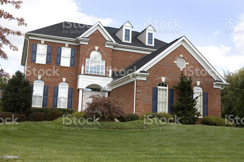 Modern Home Dream House in Suburbs stock photo