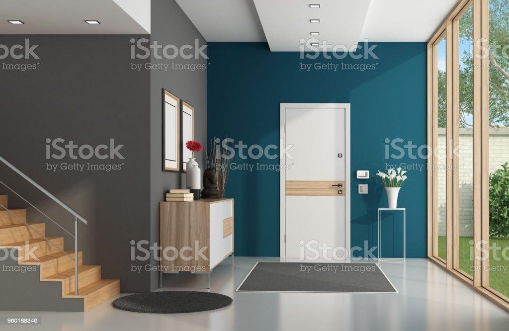Modern home entrance - foto stock