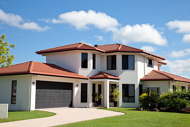 Modern Home Front stock photo