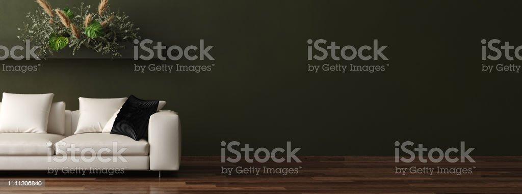 Modern home interior background, 3d render