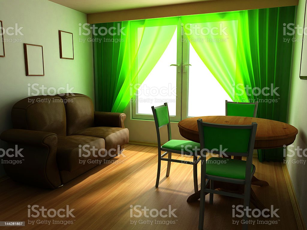 modern home interior design in classic style royalty-free stock photo