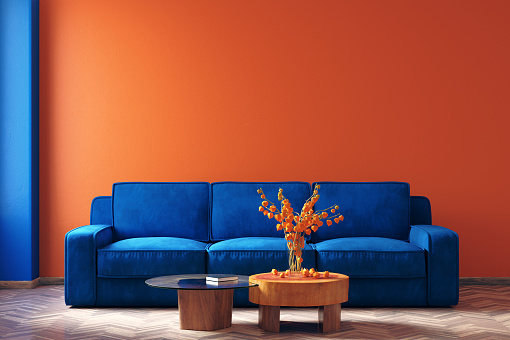 istock Modern home interior in trendy colors of the Year 2020 1193587060