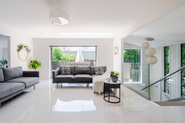 Modern home interior. stock photo