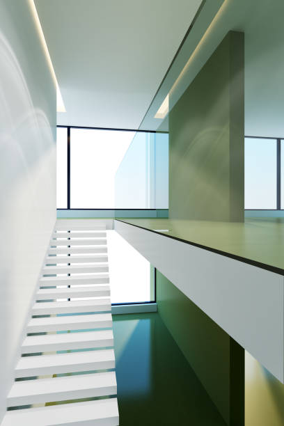 modern interieur - foreground background perspective graphic stockfoto's en -beelden