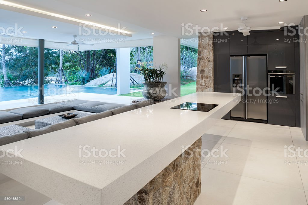 Modern Home Kitchen stock photo