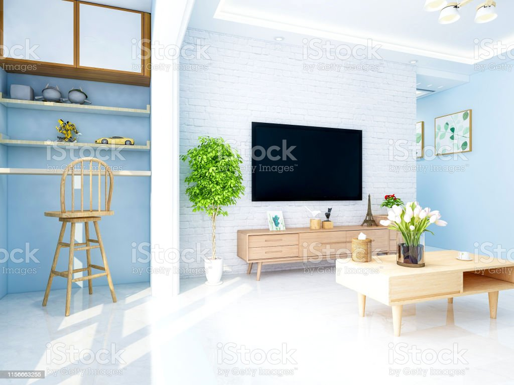 Modern Home Luxury Simple Living Room With Tv And Tv Cabinet
