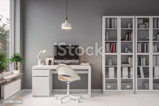 Interior of a modern home office.
