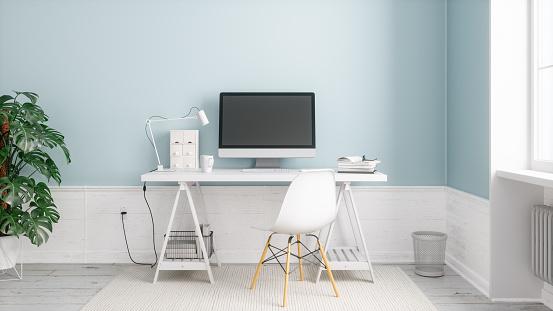 Modern Home Office — стоковые фотографии и другие картинки Без людей