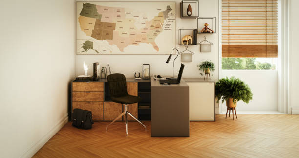 Modern Home Office stock photo