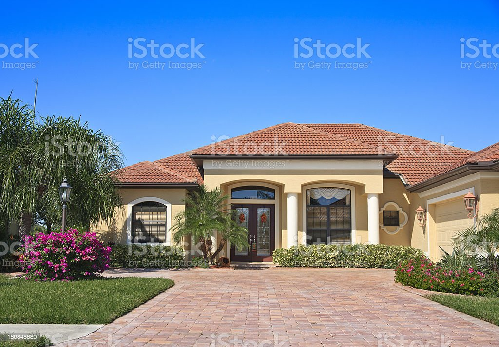 Modern Home stock photo