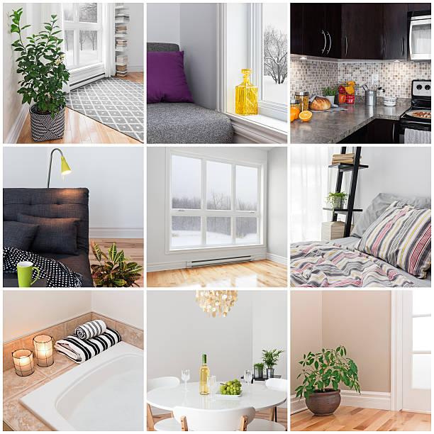 moderne zu hause - badezimmermöbel holz stock-fotos und bilder