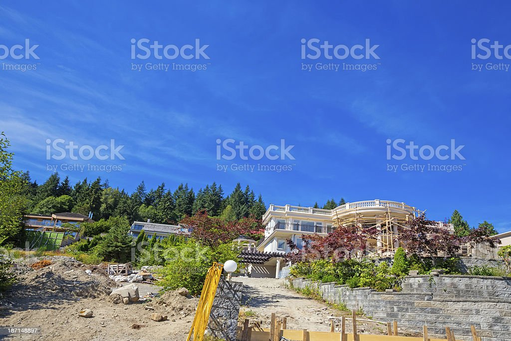 Modern home under construction royalty-free stock photo