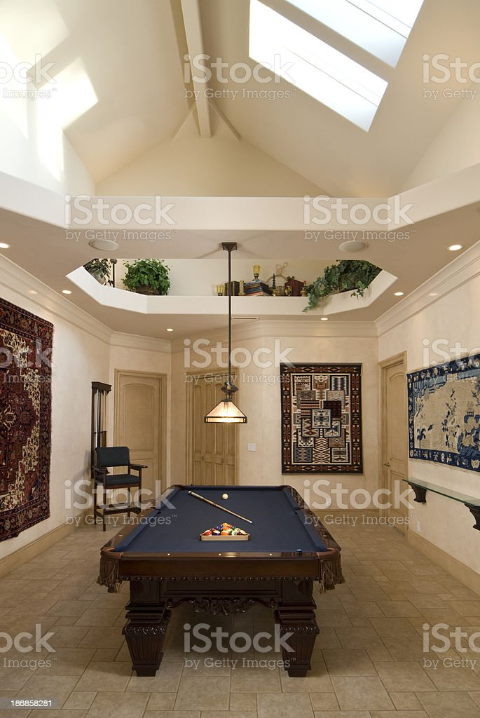 Modern home with a game room royalty-free stock photo