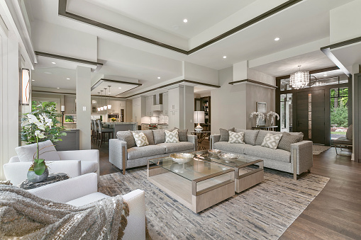 Modern home with intricate detail throughout