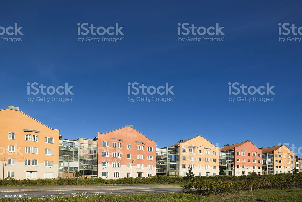 Modern homes royalty-free stock photo