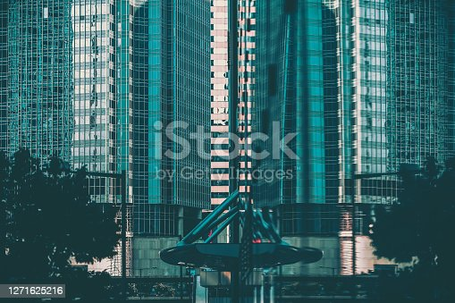 Modern Hong Kong Architecture, image vintage style