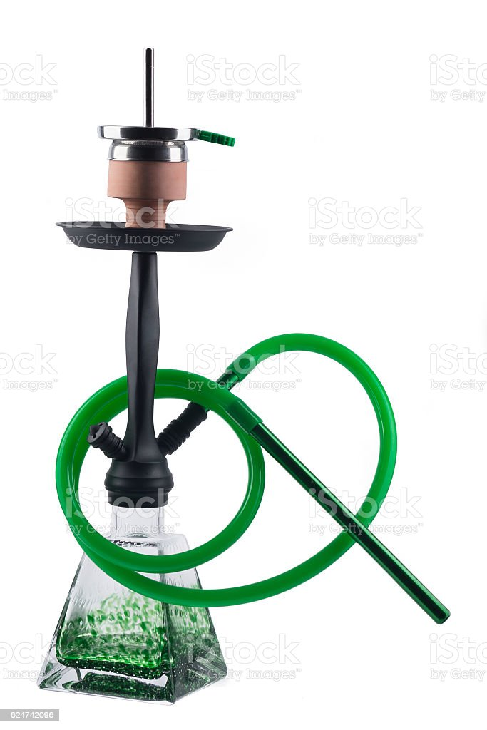 Modern hookah isolated on white background stock photo