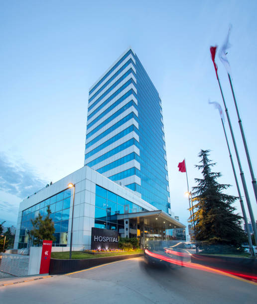 Modern Hospital Building Modern Hospital Building hospital stock pictures, royalty-free photos & images
