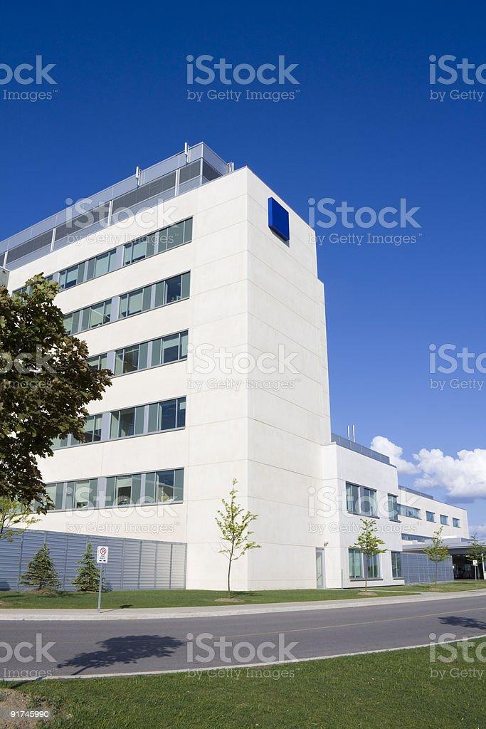 Modern hospital building royalty-free stock photo