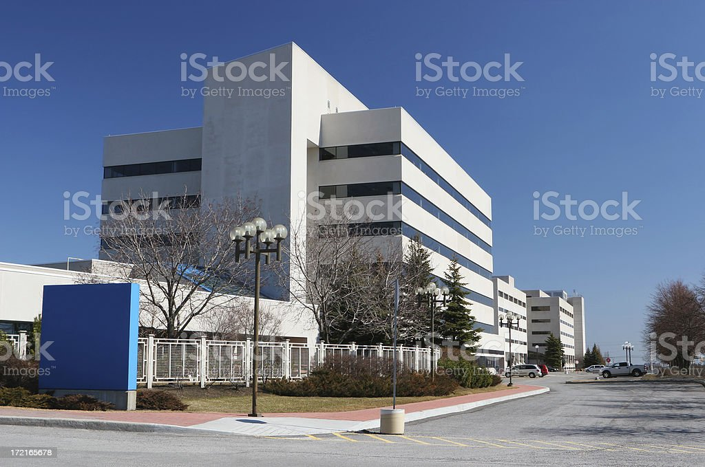 Modern Hospital Building with Sign royalty-free stock photo