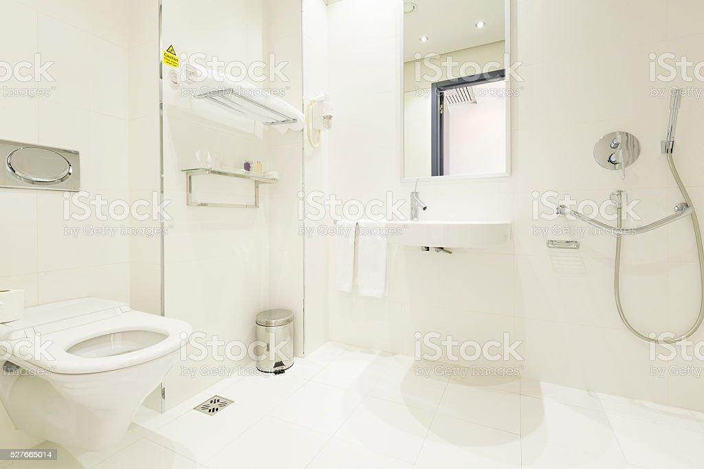 ... Modern Hotel Bathroom Interior Stock Photo ...