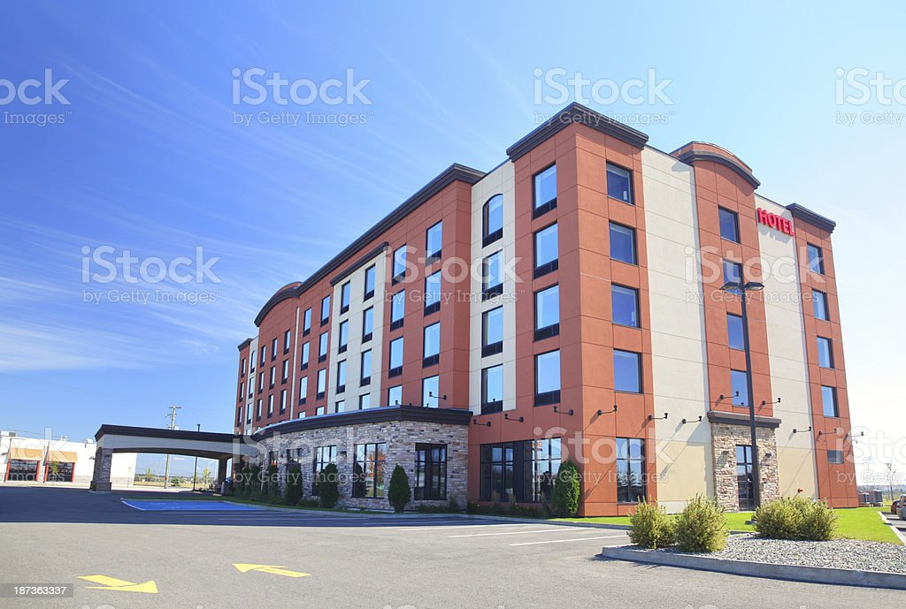 Modern Hotel Building in Summer stock photo