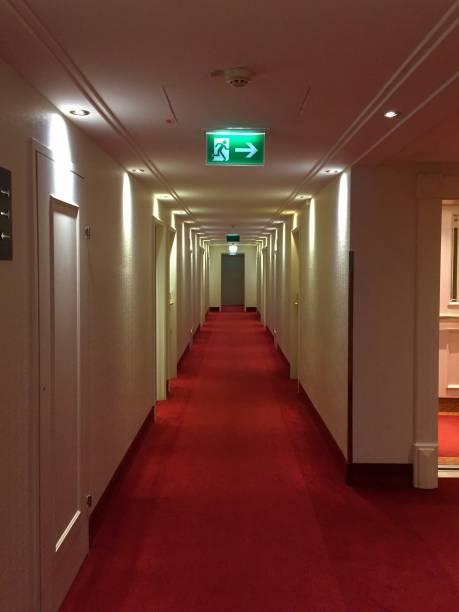 Modern hotel corridor view
