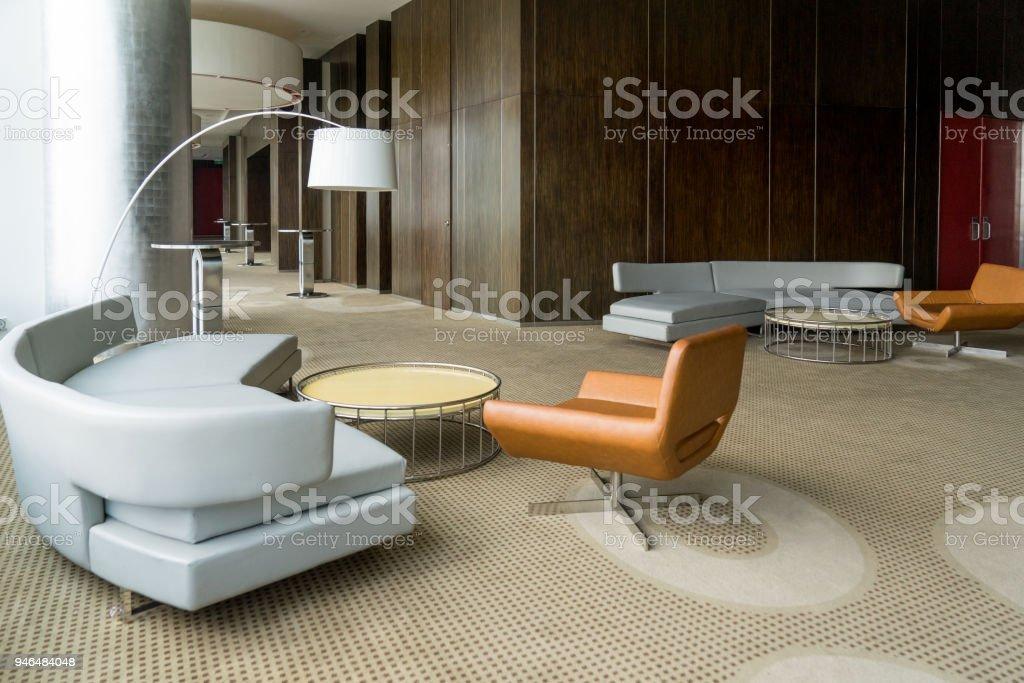 Moderne Hotellobby Mit Flur Oder Im Büro Wohnzimmer Stockfoto und ...