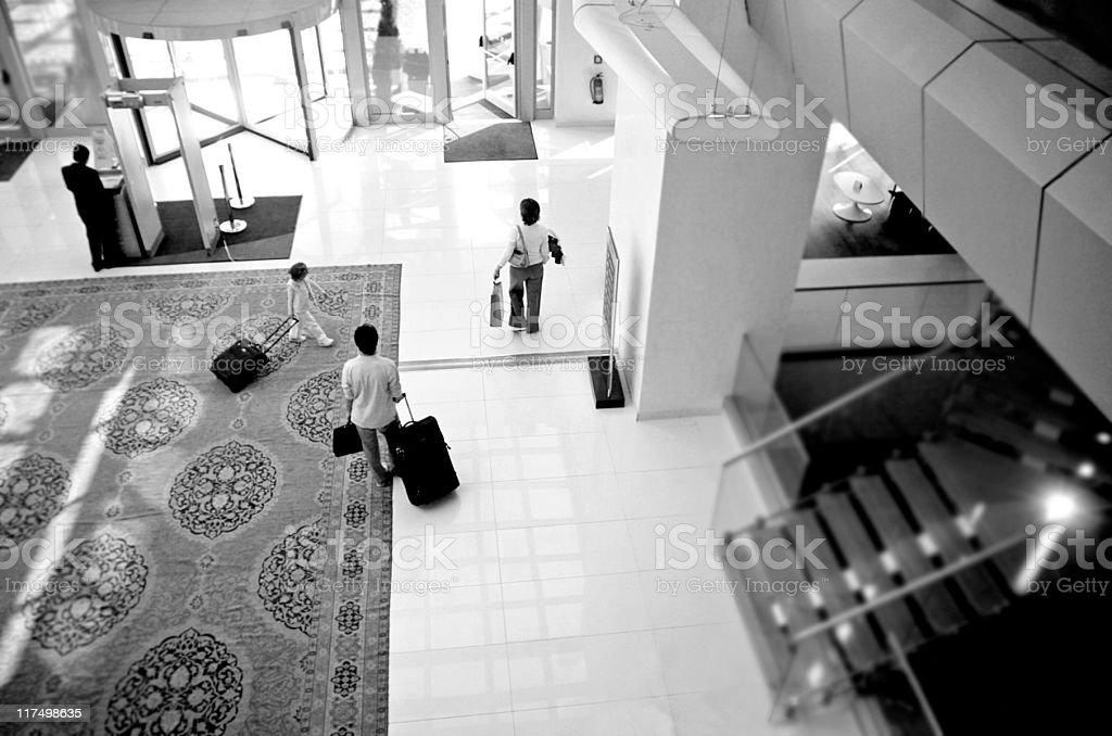 Moderne Hotel - Lizenzfrei Drehtür Stock-Foto