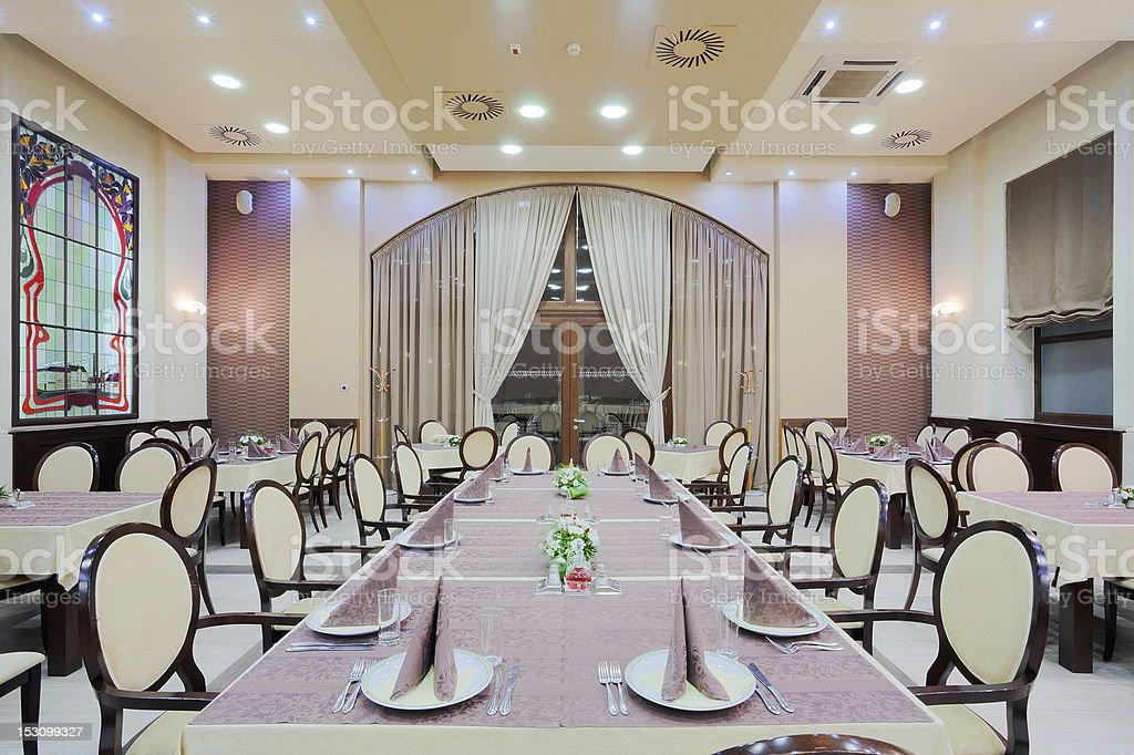 Modern Hotel Restaurant Interior Stock Photo Download Image Now Istock