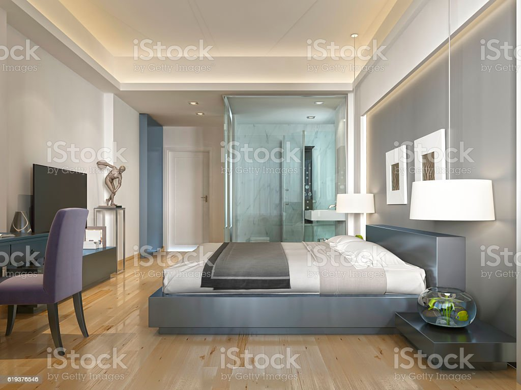 Modern Hotel Room Contemporary Style With Elements Of Art