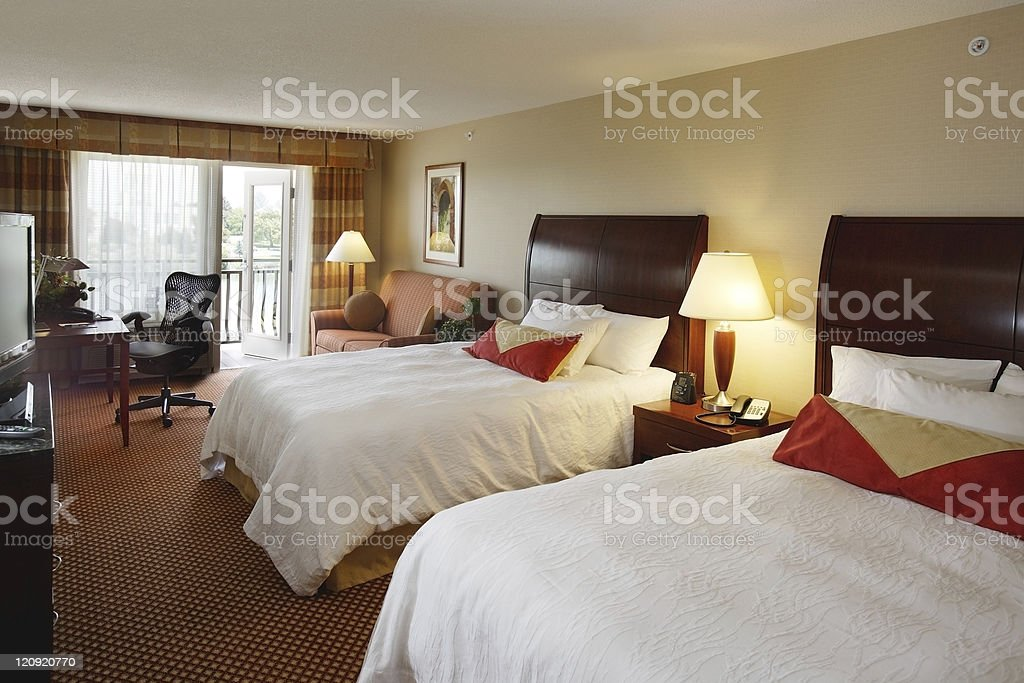 Modern Hotel Room royalty-free stock photo