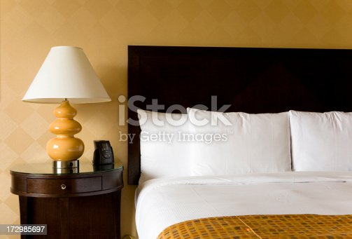 Modern hotel room and bed.For similar images please click below: