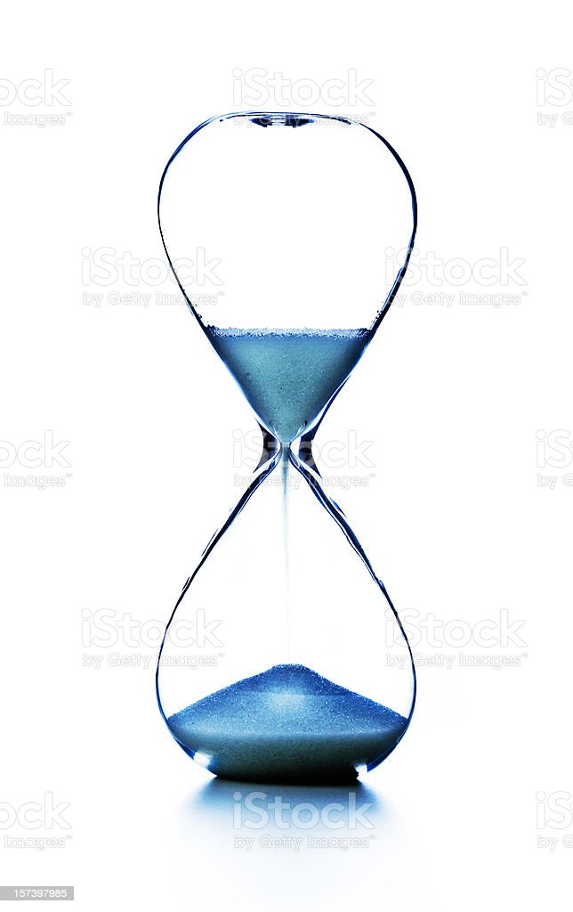 modern hourglass royalty-free stock photo