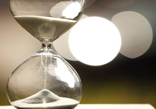 Modern Hourglass stock photo