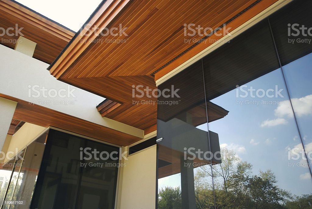Modern House Detail stock photo