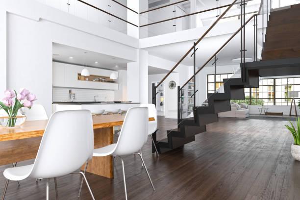 Casa moderna em apartamento Loft - foto de acervo